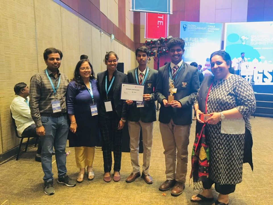 First Prize In Global Schoolpreneur Summit 2019